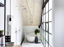 51 Industrial Style Bathrooms Plus Ideas & Accessories You Can Copy From Them images 25