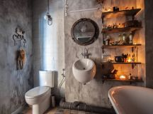 51 Industrial Style Bathrooms Plus Ideas & Accessories You Can Copy From Them images 38