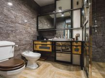 51 Industrial Style Bathrooms Plus Ideas & Accessories You Can Copy From Them images 5