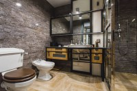 51 Industrial Style Bathrooms Plus Ideas & Accessories You ...