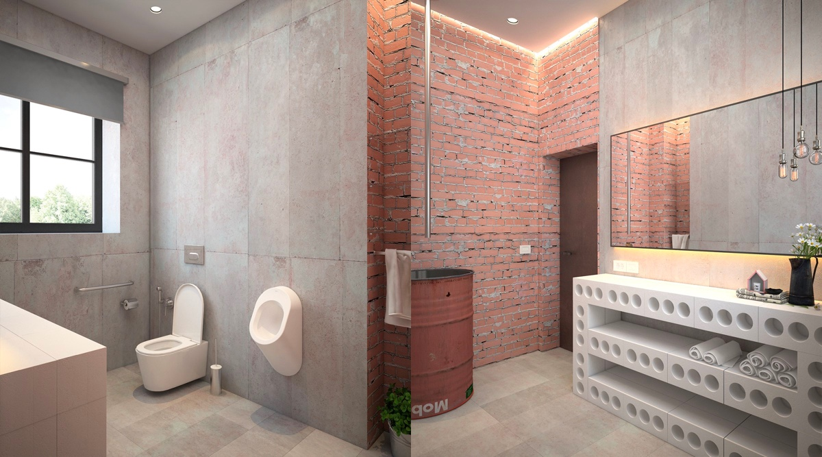 51 Industrial Style Bathrooms Plus Ideas  Accessories You