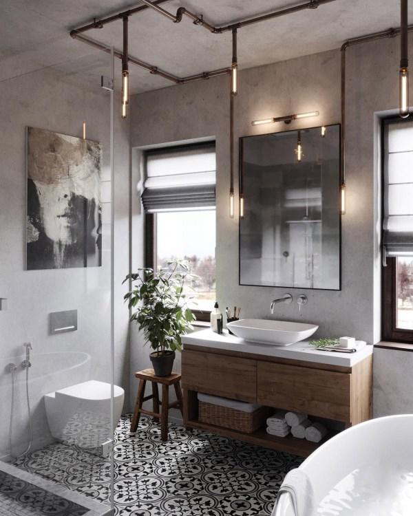Industrial Farmhouse Bathroom Ideas