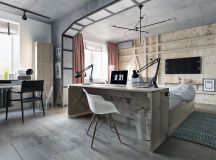 33 Inspiring Industrial Style Home Offices That Sport Beautiful Workspaces images 19