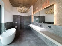 51 Industrial Style Bathrooms Plus Ideas & Accessories You Can Copy From Them images 40
