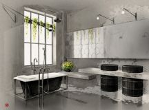 51 Industrial Style Bathrooms Plus Ideas & Accessories You Can Copy From Them images 22