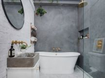 51 Industrial Style Bathrooms Plus Ideas & Accessories You Can Copy From Them images 23