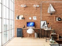 33 Inspiring Industrial Style Home Offices That Sport Beautiful Workspaces images 0