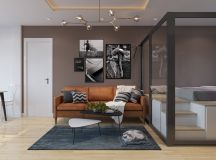 3 Open Plan Interiors With Glass Wall Bedrooms images 14