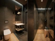 51 Industrial Style Bathrooms Plus Ideas & Accessories You Can Copy From Them images 34