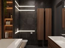 Luxurious Interior With Wood Slat Walls images 14