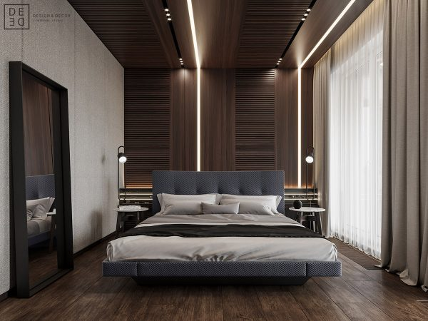 Luxurious Interior With Wood Slat Walls – Download AUTOCAD