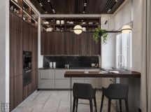 Luxurious Interior With Wood Slat Walls images 7