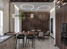 Luxurious Interior With Wood Slat Walls images 9