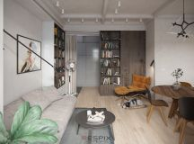 Modern And Youthful: 4 Small Apartments With Fierce Style images 7
