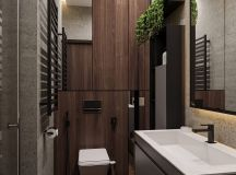 Luxurious Interior With Wood Slat Walls images 25