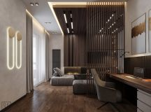 Luxurious Interior With Wood Slat Walls images 0
