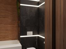 Luxurious Interior With Wood Slat Walls images 17