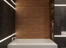Luxurious Interior With Wood Slat Walls images 16