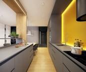 modern galley kitchens
