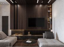 Luxurious Interior With Wood Slat Walls images 2