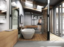 51 Industrial Style Bathrooms Plus Ideas & Accessories You Can Copy From Them images 37