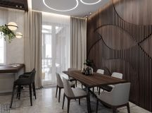Luxurious Interior With Wood Slat Walls images 5