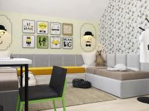 Green And Yellow Accent Interior In Moscow images 35