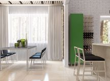 Green And Yellow Accent Interior In Moscow images 6