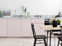 51 Inspirational Pink Kitchens With Tips & Accessories To Help You Design Yours images 9