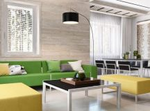 Green And Yellow Accent Interior In Moscow.... : Interior ...