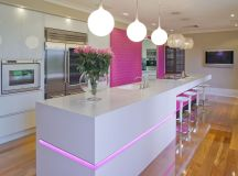 51 Inspirational Pink Kitchens With Tips & Accessories To Help You Design Yours images 45