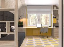Green And Yellow Accent Interior In Moscow images 23