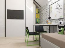 Green And Yellow Accent Interior In Moscow images 33