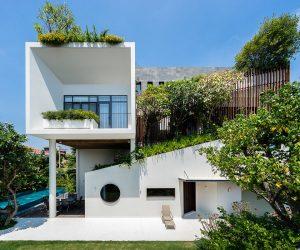 Vietnamese Villa With Open Plan Spaces & Mezzanine Levels