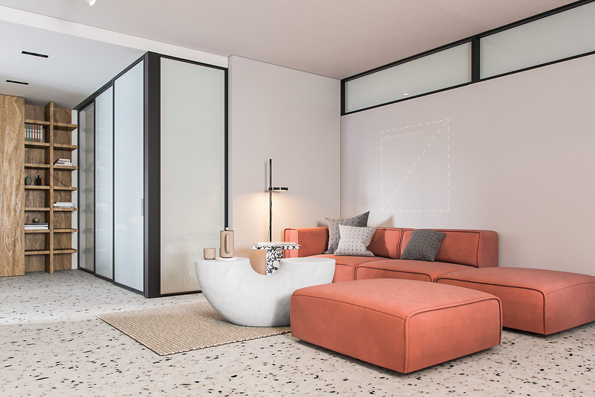 Modern Open Plan With Refreshing Colour Infusions