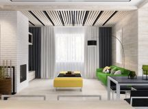 Green And Yellow Accent Interior In Moscow images 1