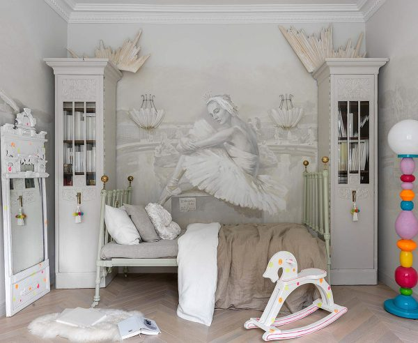 Ballet-themed-wall-mural-600x492 Home Of Surreal Interiors & Modern Empire Style Upholstery in Victoria