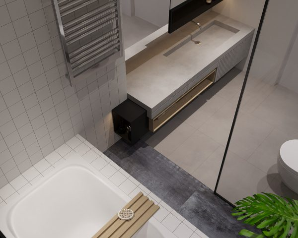 Chrome-towel-heater-600x480 Three Industrial Style Lofts WIth Natural Accents
