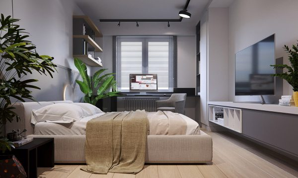 Modern-fabric-bed-600x360 Three Industrial Style Lofts WIth Natural Accents Upholstery in Victoria