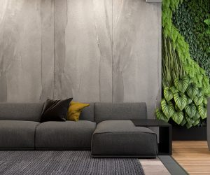 Decorating With Vertical Gardens & A Unique Lighting Scheme