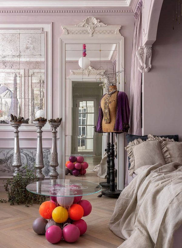 Pink-bedroom-600x818 Home Of Surreal Interiors & Modern Empire Style Upholstery in Victoria