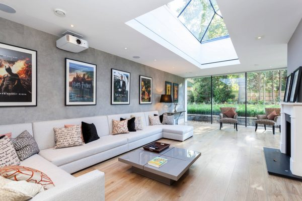 Rectangular-roof-lantern-600x400 Indoor Skylights: 37 Beautiful Examples To Tempt You To Have One For Yourself