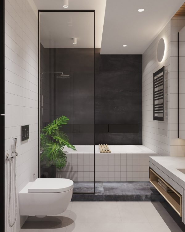 Wall-hung-toilet-600x750 Three Industrial Style Lofts WIth Natural Accents Upholstery in Victoria