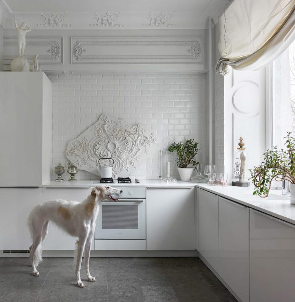 White-L-shaped-kitchen-600x613 Home Of Surreal Interiors & Modern Empire Style Upholstery in Victoria
