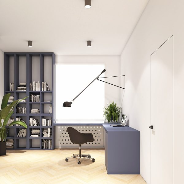 minimalist-modern-workspace-600x600 Modern Minimalist Apartment Designs Under 75 Square Meters (808 Square Feet)