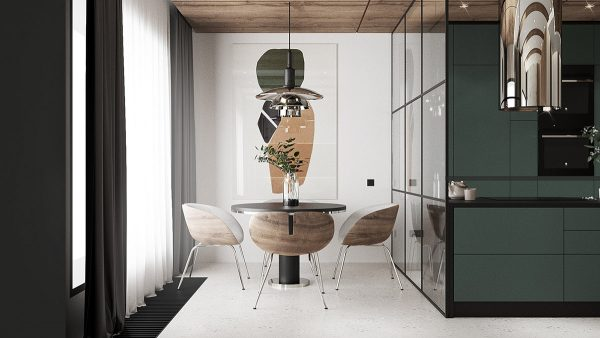 modern-dining-nook-600x338 Modern Minimalist Apartment Designs Under 75 Square Meters (808 Square Feet) Upholstery in Victoria