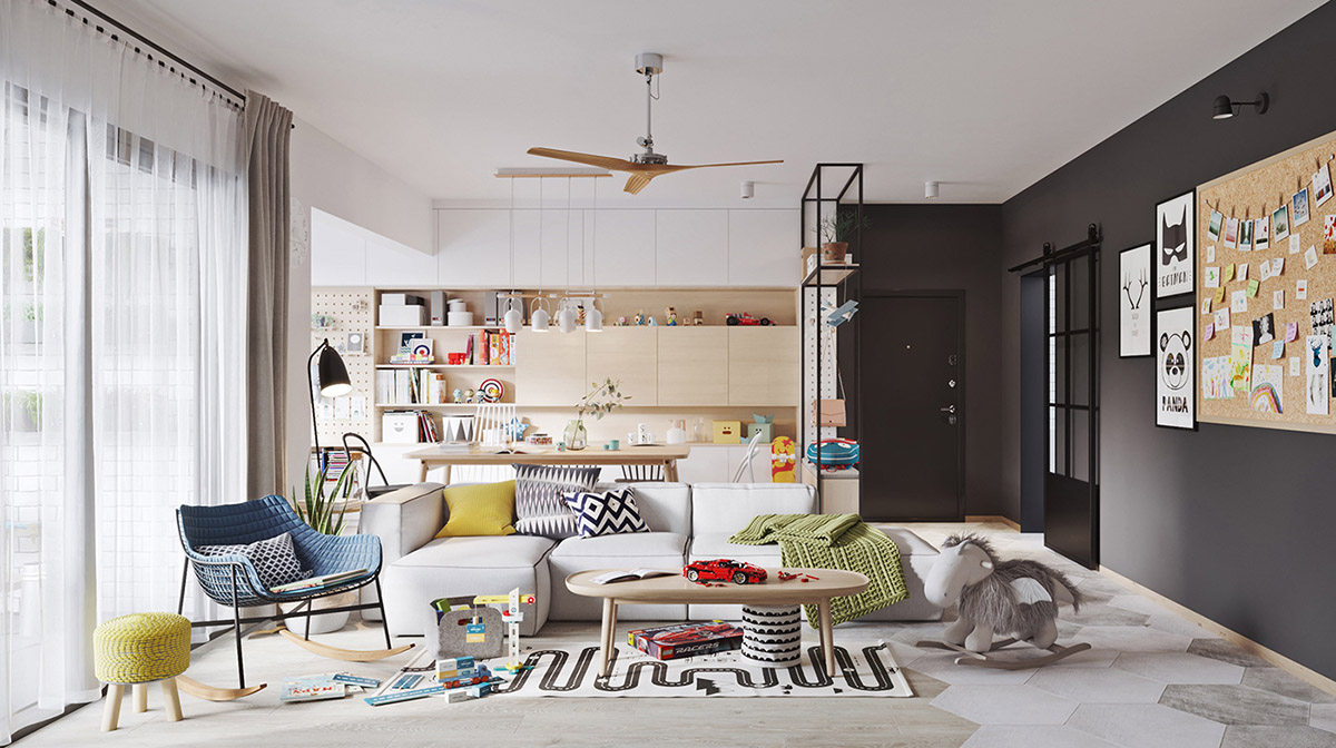 5 Fresh & Funky Scandinavian Style Home Interiors