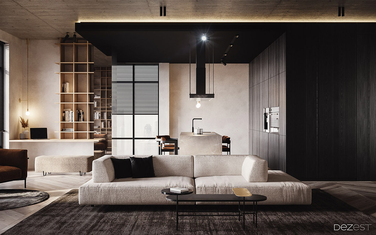 Dark, Warm & Welcoming Apartment
