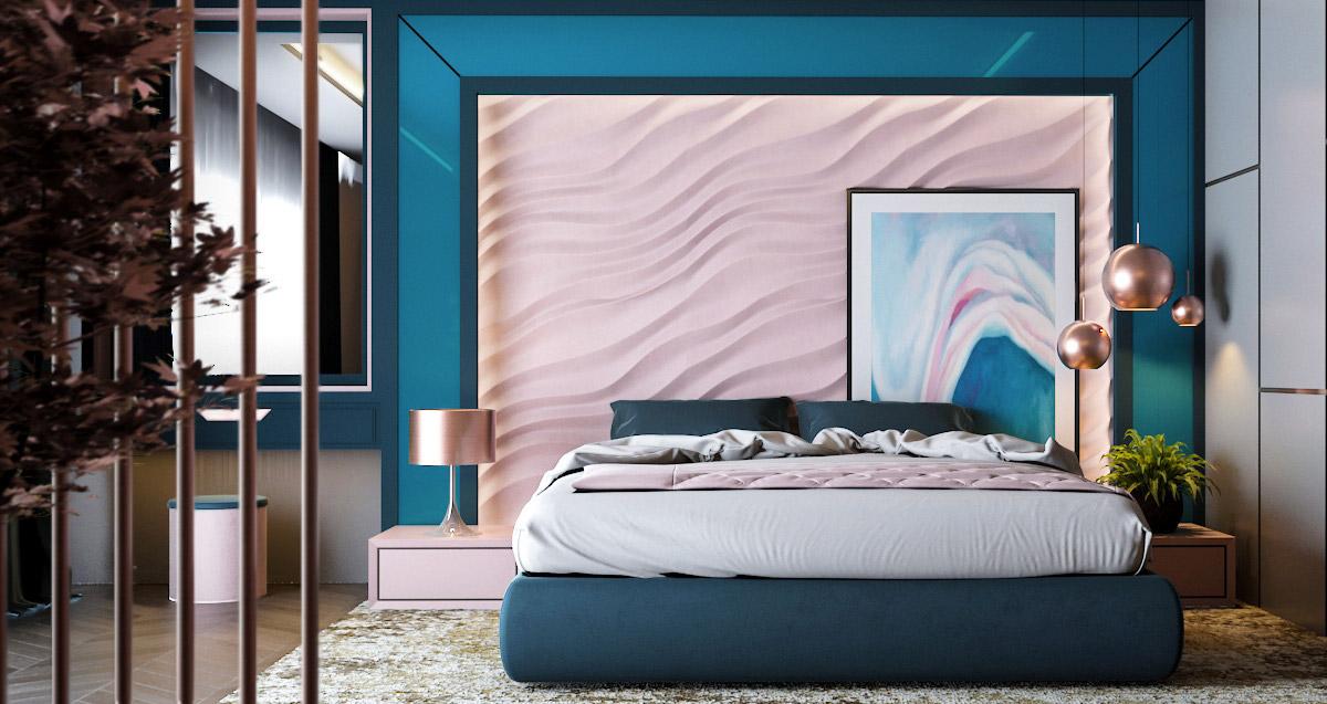 Grey Pink And Blue Bedroom Ideas Novocom Top