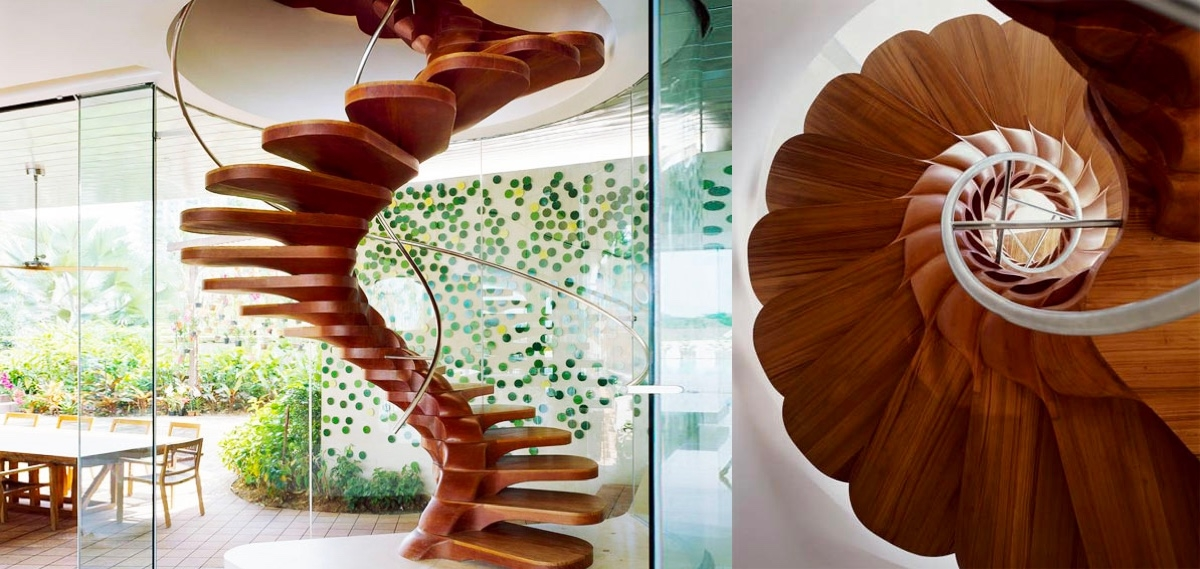 51 Stunning Staircase Design Ideas   Half Round Stairs Design   Grand Staircase   Wooden   Rounded   Railing   Beautiful